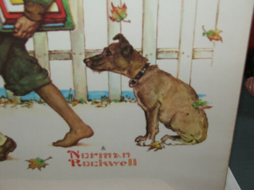 Norman Rockwell Kids Walking to School Published Exclusively by Authur A Kaplan