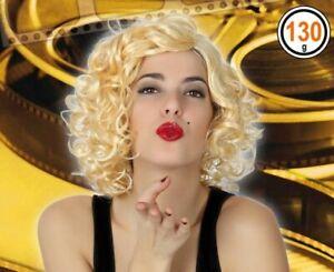 Perruque Bouclée Court Blonde Déguisement Femme Marilyn Monroe Neuve