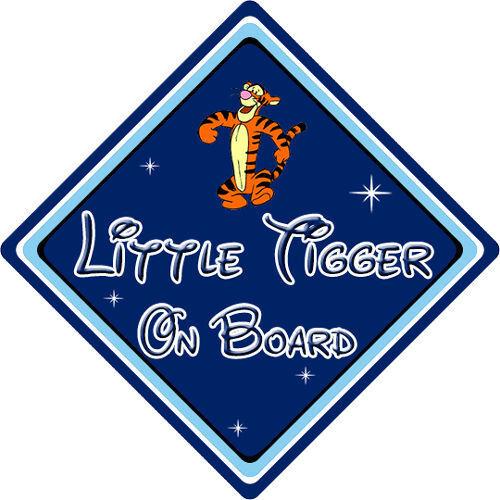 Little Tiger A Bordo Coche Firmar-Bebé A Bordo Disney Winnie The Pooh Tigger DB
