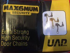 SECURITY DOOR CHAIN   BRASS CHROME