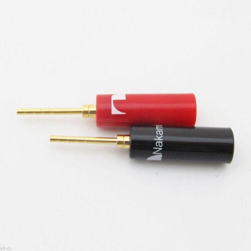 10pcs Nakamichi Hard Plastic Gold 2mm Pin Tip Banana Plug Terminal Connector