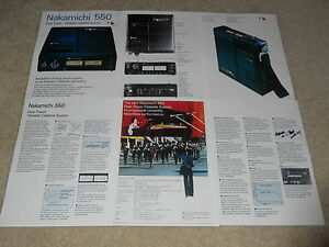 Pictures 6 pg Specs Articles Nakamichi RX-202 Cassette Brochure Info 1984