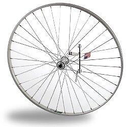 Sta Tru Front Wheel 27x1 1//4 Silver 36 Spokes Alloy Rim 100mm Quick Release