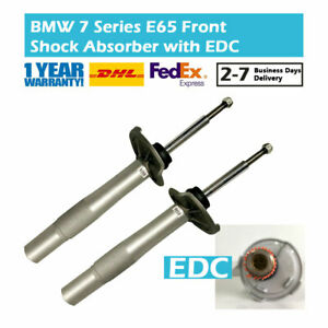 Pair-Front-Left-and-Right-Shock-Absorber-Fit-BMW-7-Series-E65-E66-750-760-EDC