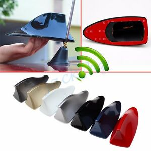 Details about Shark Fin Roof Antenna Aerial FM/AM Radio Signal Decoration  Car Accessories Trim