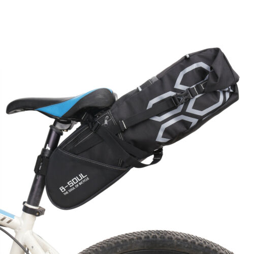 Large Capacity Bike Packing Gravel Adventure Bike 8-10Ltr Saddle Bag Waterproof