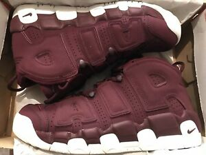 Details about Nike Air More Uptempo '96 Size 13 QS 2017 Maroon 921949 600 Bordeaux Used