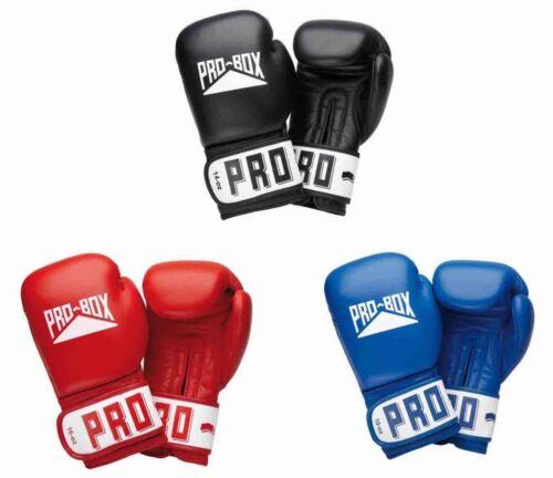 Pro Box Leather Boxing Sparring Gloves Club Essentials 8oz 10oz 12oz 14oz 16oz