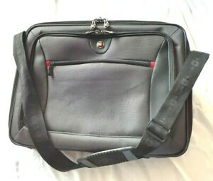 WENGER-Swiss-Gear-17-034-Messenger-Laptop-Briefcase-Bag-Black-NWOT