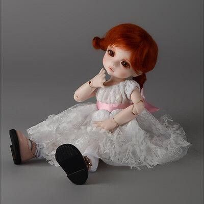 White Oresrose Dress Dollmore 1//6 BJD YOSD USD  Dear Doll Size