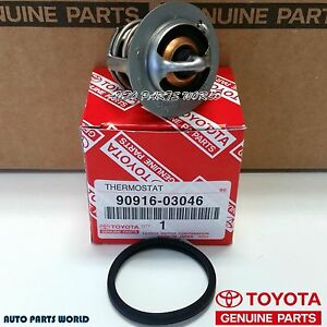 genuine toyota engine coolant thermostat with gasket 90916 03046 rh ebay com toyota engine coolant price toyota engine coolant sensor