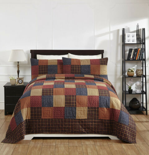"""Primitive***NEW 3 Piece KING /""""OLD GLORY/"""" Quilted Bedding SET ~ Country"""