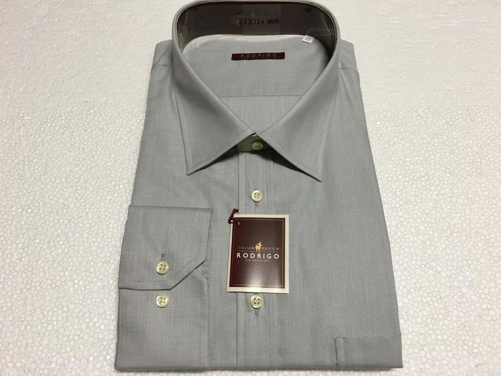 RODRIGO men's shirts linea outsize grey 100% cotton 53-21