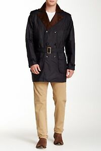 NWT-Barbour-Owner-Jacket-Water-Resistant-Coat-Medium-Navy-Blue-Waxed-Cotton-Mens