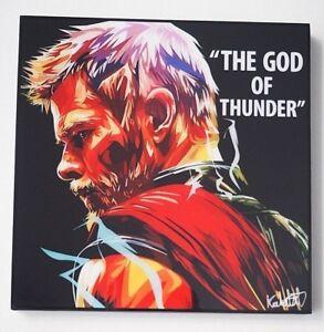 Thor God Of Thunder Marvel Super Heros Dessin Anime Pop Art Toile