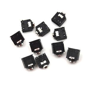 10PCS-5-Pin-PCB-Mount-Female-3-5mm-Stereo-Jack-Socket-Connector-PJ-307-Gr