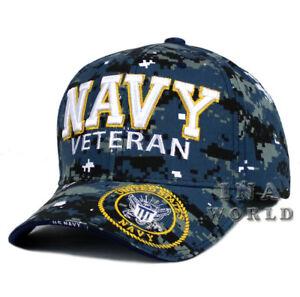 296a507d8f4 U.S. NAVY hat NAVY VETERAN 3D Embroidered Military Baseball cap ...