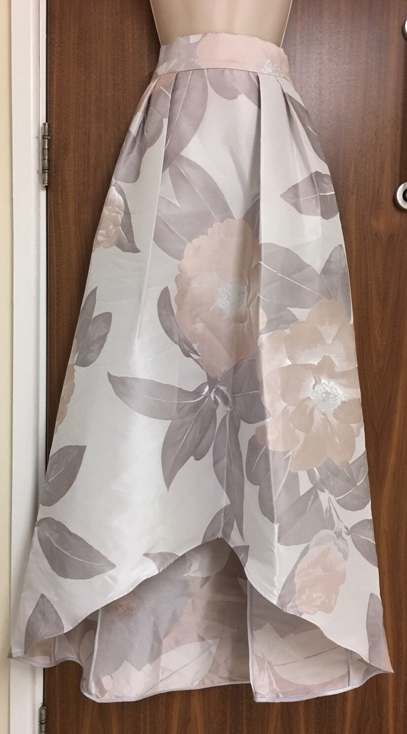 Coast Floral Jacquard High- Low Skirt