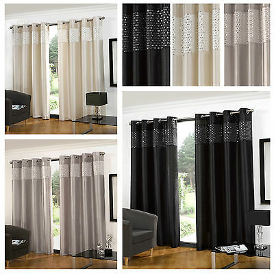 Luxury Diva Curtains Fully Lined Eyelet Curtain Ring Top Door Panel