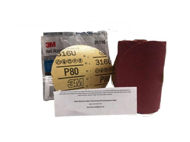 3M 01116 Stikit Red 6 P80D Grit Abrasive Disc
