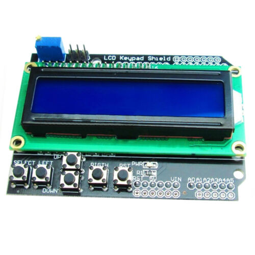 1602 LCD with Keypad Shield Board Blue Backlight Module for Arduino Duemila S8O4