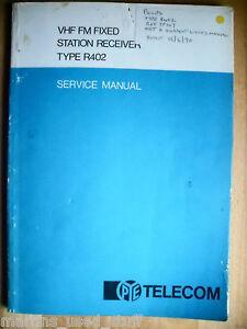 Pye R402 Vhf Fm Station Fixe Récepteur Manuel-afficher Le Titre D'origine