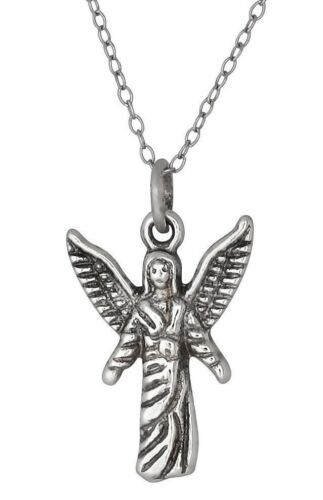 Archange Chamuel Sterling Silver Charm Angel Pacifique de relations oxyder