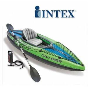 Giochi estivi per bambini e adulti: Intex, Challenger Canoa Kayak K1 posto singolo