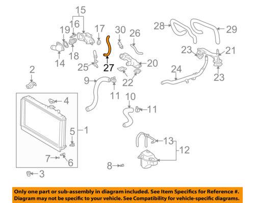 Lexus TOYOTA OEM 02-10 SC430 4.3L-V8 Radiator-Bypass Hose 1629550070