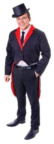 /'S per Adulti FRAC Nero//Rosso Del Circo Costume Uomo Costume