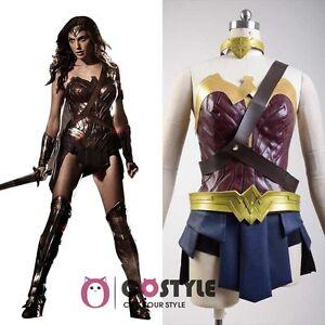 Justice League Wonder Woman Diana Prince Gal Gadot Halloween Cosplay