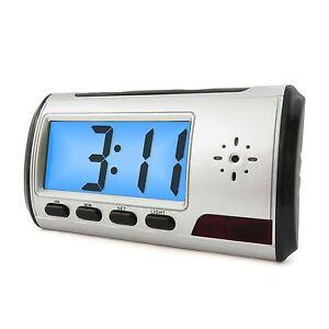 alarm clock spy camera video recorder hidden nanny cam dvr