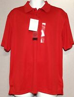 Canyon Creek Men's Button Front Golf Polo Shirt, Short Sleeves, 100% Polyester