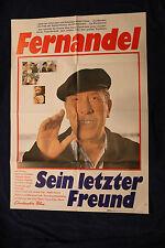 original Kino Plakat - Fernandel - Sein letzter Freund ! 1969 ! Poster Cinema