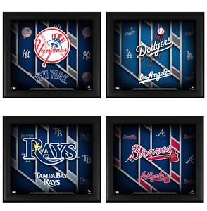 "MLB Teams Framed 15"" x 17"" Team Threads Collage"