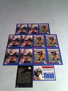 Michael-Soles-Lot-of-21-cards-3-DIFFERENT-Football-CFL