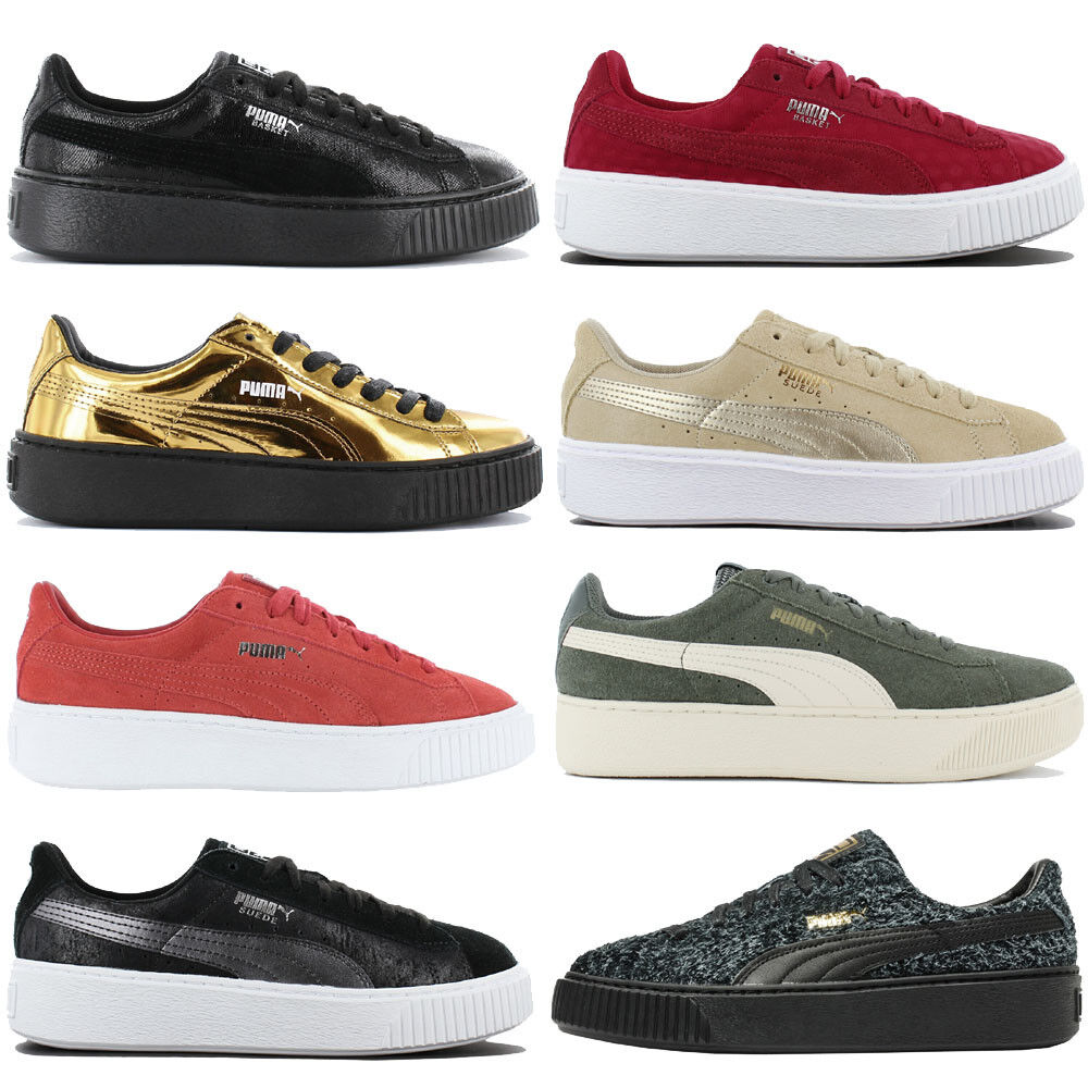 Puma Platform baskets Femmes Plateforme Chaussures De Loisirs Basket Suede Vikky NEUF SOLDES