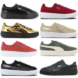 Details zu Puma PLATFORM Damen Sneaker Plateau Schuhe Freizeit Basket Suede Vikky NEU SALE