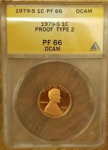 1979s-1c-ANACS-Type-2-034-Clear-S-034-Lincoln-Memorial-Cent-PF66DCAM-Nice-Older-Slabs