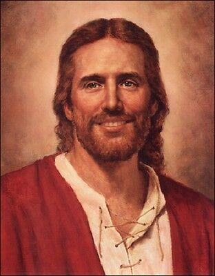 Del Parson CHRIST/'S LOVE 14x11 unframed paper print Laughing Jesus Artist Signed