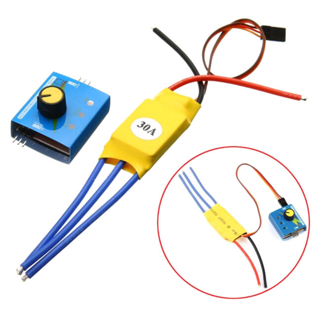 30a 12v dc 3-phase high-power brushless motor speed regulator pwm controller qr