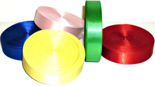 18MM 25MTR//rouleau art 36315 assortiment de cols Double face ruban satin free p/&p