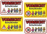 Schild Achtung Spielende Kinder Schulkinder 30x20, 40x30, 60x40cm Wetterfest