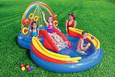 INTEX INFLATABLE RAINBOW POOL CHILD TODDLER KIDDIE WADDING PLAY SWIMMING POOL