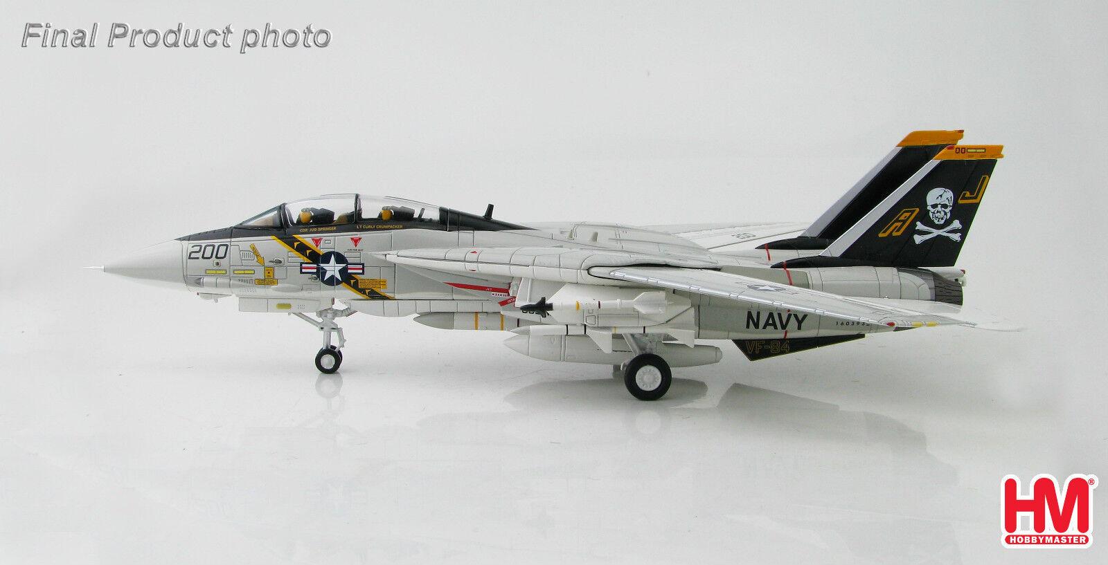 Hobbymaster 1:72 HA5203 F-14A Tomcat AJ200 VF-84 Jolly Rogers US Navy 2018 MIB