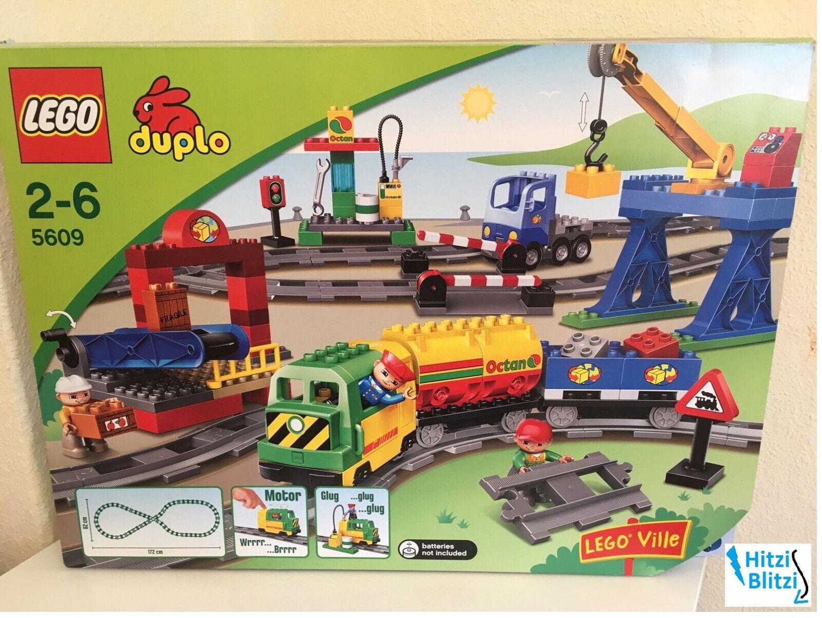 LEGO Duplo Ville Eisenbahn - Super Set 5609 - E-Lok Anhänger Bahnhof + Ovp