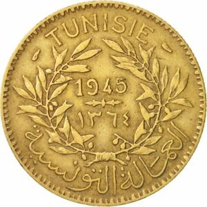 93735-Tunisia-Anonymous-2-Francs-1945-Paris-BB-Alluminio-bronzo-KM-248