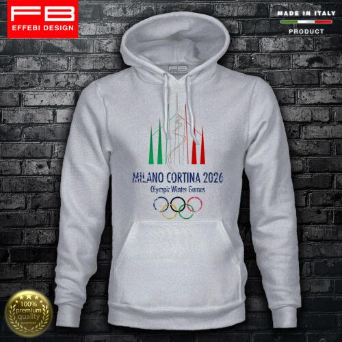 Sweatshirt Hoodie Olympics Winter Cortina D/'Ampezzo 2026 Ski Milan City Fashion