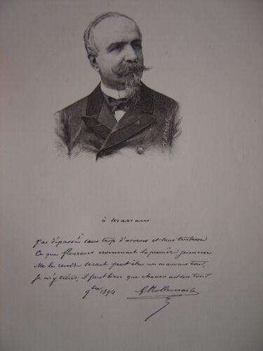 Gravure Portrait de Jean-Philippe Gustave NOBLEMAIRE 1896