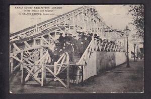 Exhibition-EARLS-COURT-Crazy-Bridge-amp-Coaster-used-1917-PPC